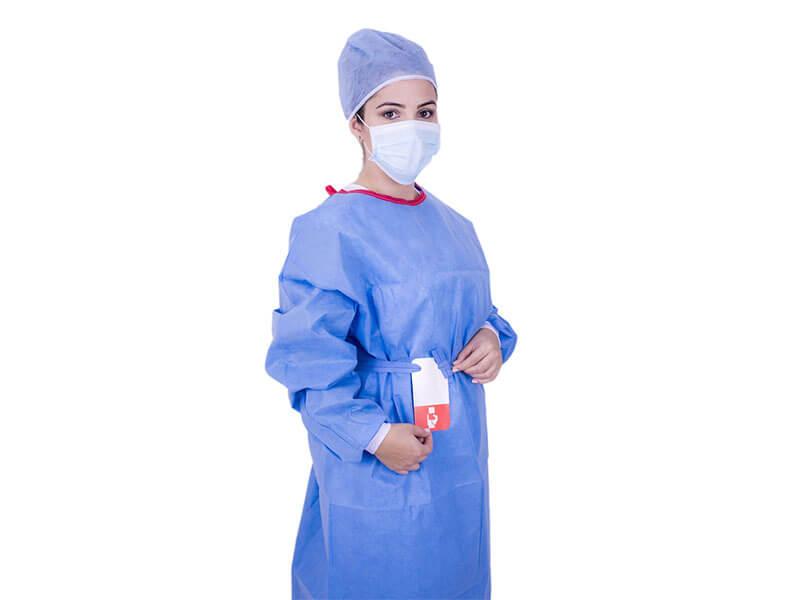 Avental Cirúrgico Estéril Descartável Eurodesck Sem Reforço