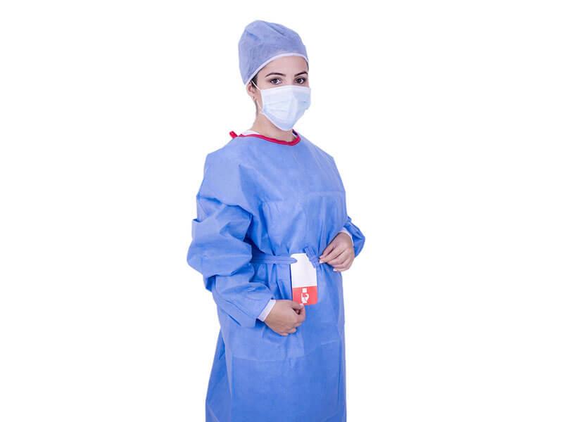 Avental Cirúrgico Estéril Descartável Eurodesck Com Reforço